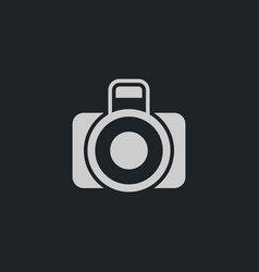 camera icon simple vector image