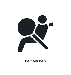 Car air bag isolated icon simple element from car vector