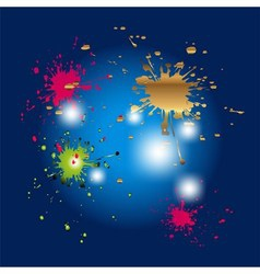 Colored splashes in abstract shape isolated o vector