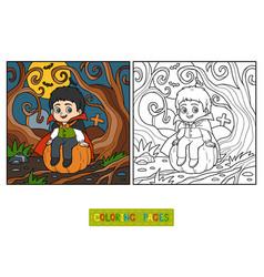 coloring book vampire vector image