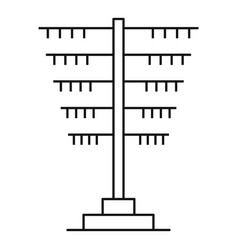 Connection pole icon outline style vector