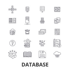 database data management hosting technology db vector image