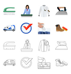 Design of laundry and clean symbol set of vector