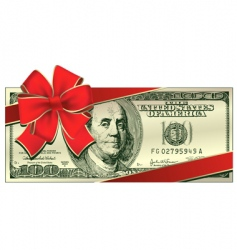 dollar gift vector image