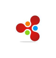 dot connection digital logo vector image