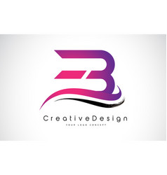 eb e b letter logo design creative icon modern vector image