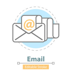 email message icon editable stroke vector image