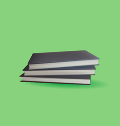 encyclopedia book with green background vector image