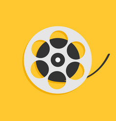 film movie reel i love cinema icon flat design vector image