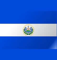 flag el salvador flat icon vector image