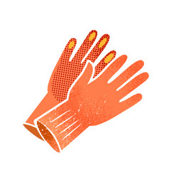 gardening gloves vector image