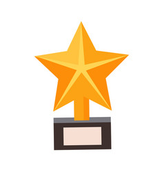 Golden star award cinema and movie theatre vector