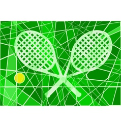 Grass court tennis vector image