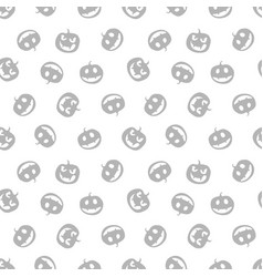 Grey seamless pattern of haloween pumpkins black vector