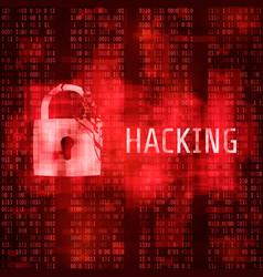 Hacking hacker cyber attack hacked program vector