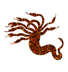hydra pattern silhouette ancient mythology fantasy vector image