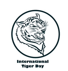 international tiger day poster template with angry vector image