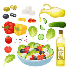 Isometric greek salad 3d vector