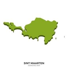 Isometric map of Sint Maarten detailed vector