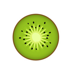 kiwi kiwi or chinese gooseberry with half cross vector image