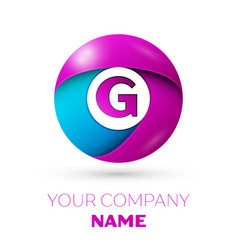 Letter g logo symbol in the colorful circle vector