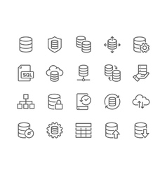 Line Database Icons vector