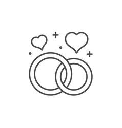 marriage or wedding line icon vector image