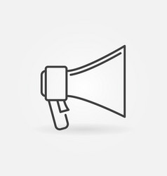 megaphone concept icon in thin line style vector image