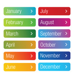 Month of the year button set vector