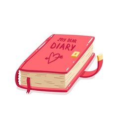 My dear diary vector image