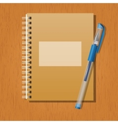 Note and a pen vector image