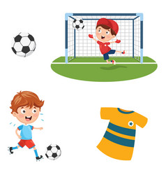 of playing football vector image