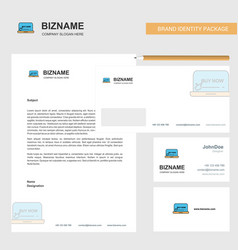 online shopping business letterhead envelope and vector image