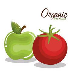 Organic product guaranteed seal vector