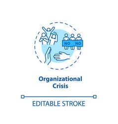 Organizational crisis concept icon social protest vector