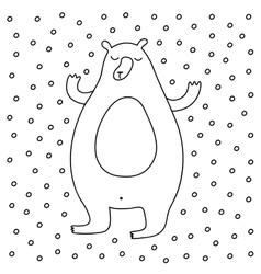 Outline Cartoon Winter vector image