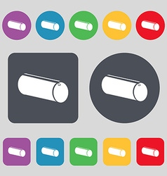Pencil case icon sign A set of 12 colored buttons vector