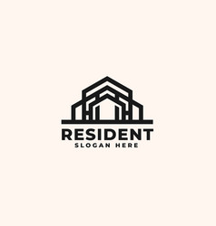 real estate logo design template - good to use vector image