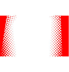 Red dot halftone background vector