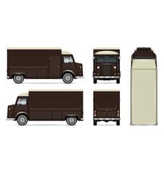 retro food truck template vector image