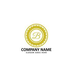 royal b letter logo vector image