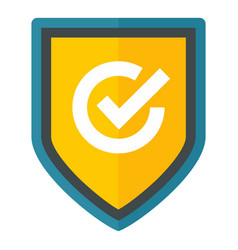 safety home shield icon flat style vector image