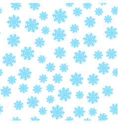 seamless pattern snowflakes endless background vector image
