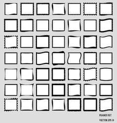 Set Of Blank Frames EPS 10 vector