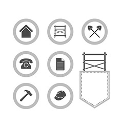 Set of Scaffolding round icons for web site vector