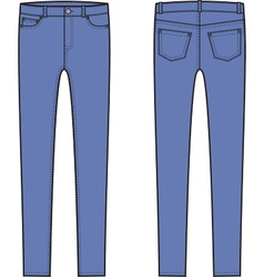 Skinny pants vector image