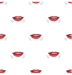 Speaking mouth icon in cartoon style isolated on vector