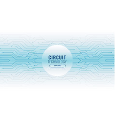 White background with circuit lines technology vector