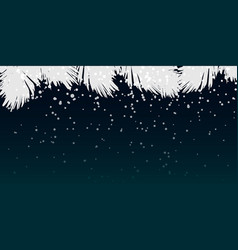 winter night background design vector image