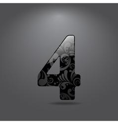 Digit four vector image